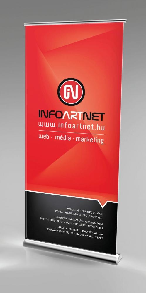 Rollup kép, az Infoartnet Kft. saját arculata