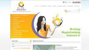 Weblap, az IL-PE céges weboldalának arculata