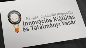 Innovációs Kiállítás és Találmányi Vásár arculata, képen a Logó