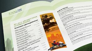 Kiadvány, a Széchenyi Futam komplex arculat készítése
