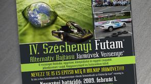 Plakát képe, a Széchenyi Futam arculata