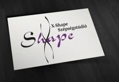 Az X-Shape Szépségstúdió céges arculatának készítése, Logó