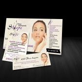 Az X-Shape Szépségstúdió céges arculatának készítése, további arculati elemek képe