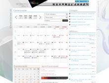 ALTmob weblap Eseménynaptár képe, RWD használatával.