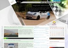 ALTmob hírportál reszponzív webdesign alkalmazással, 3 oszlopos felbontásban.