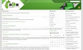 NYITOK Klaszter portál reszponzív webdesign-nal, HD felbontású nézetben