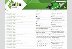 NYITOK Klaszter weboldala reszponzív webdesign alkalmazásával, 3 hasáb megjelenítéssel.
