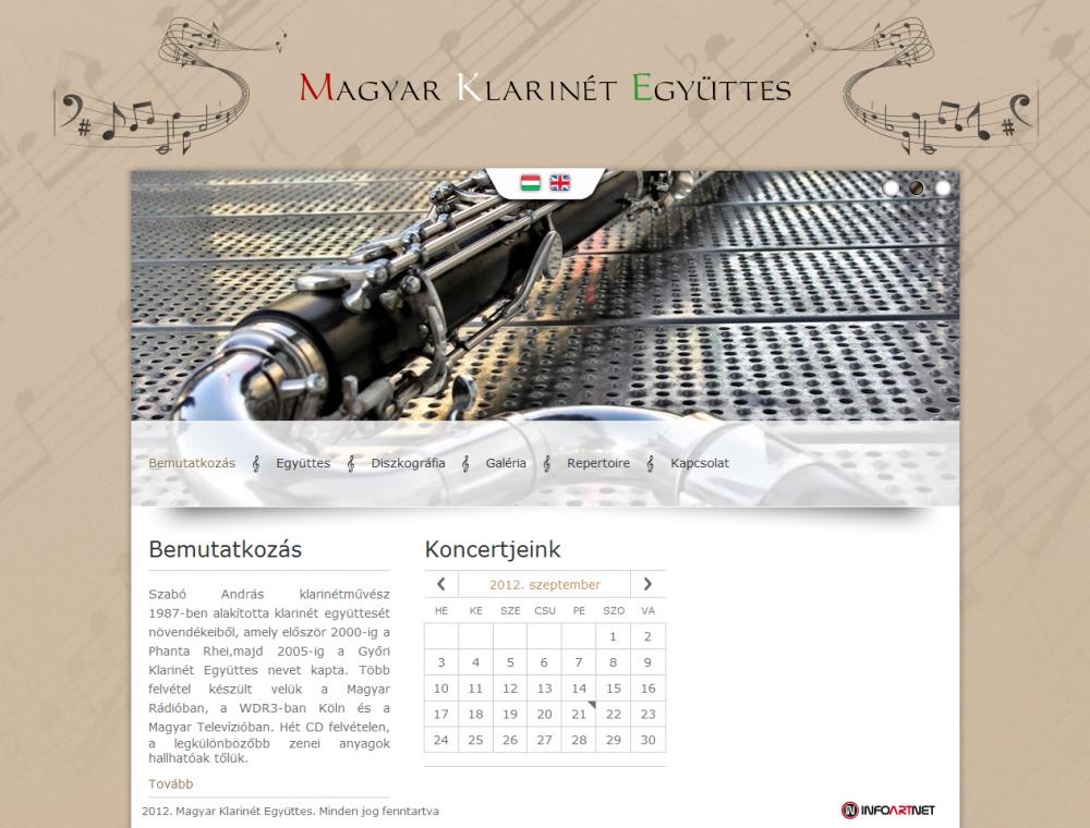 MKE weblapjának képe, eseménynaptárral