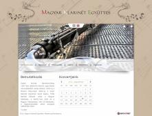 Magyar Klarinét Együttes weblapjának képe, eseménynaptárral