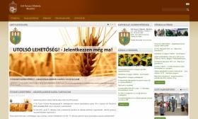 GFF weboldala reszponzív webdesign alkalmazásával, HD nézetben