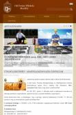 Gál Ferenc Főiskola intézményi weblap reszponzív webdesign alkalmazásával, tablet nézetben