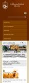 Gál Ferenc Főiskola weblapja RWD kialakítással, mobilnézetben.