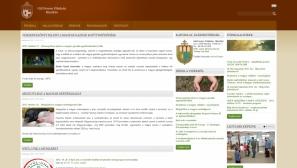 Gál Ferenc Főiskola intézményi portál reszponzív webdesign-nal kialakított oldalának képe