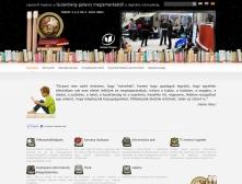 Szolnoki Főiskola Könyvtár és Távoktatási Központ honlapjának kezdőlapi képe