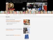Szolnoki Főiskola Könyvtár és Távoktatási Központ weboldala