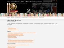 Szolnoki Főiskola Könyvtár és Távoktatási Központ weblapja