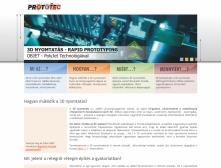 Prototec weboldalának képe