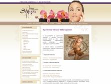 X-Shape Szépségstúdió weblap képe