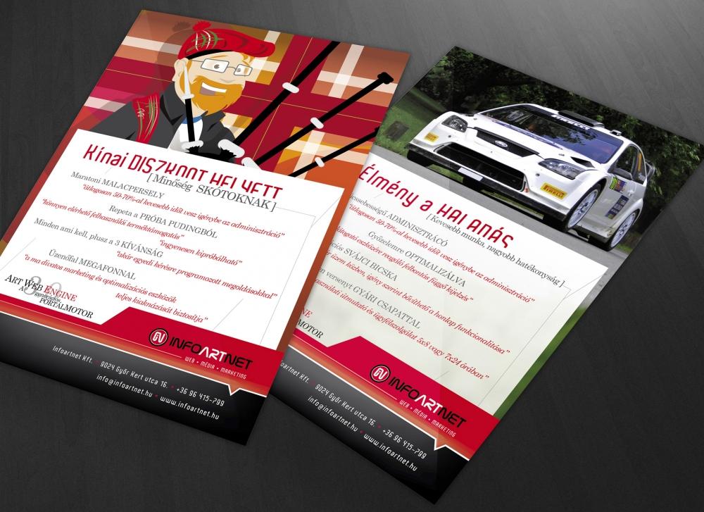 Arculat, az Infoartnet Kft. szórólapjai