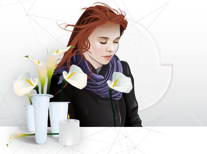 Vektoros illusztráció, az IL-PE céges arculata