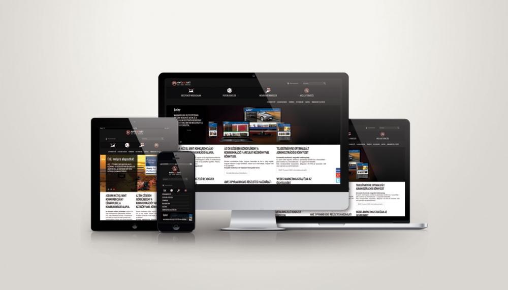 Arculat, Infoartnet Kft reszponzív weboldala