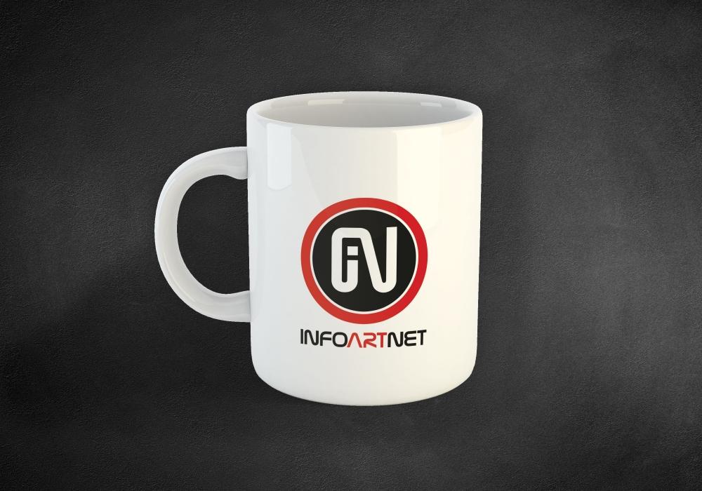 Arculat, Infoartnet Kft. logózott bögre