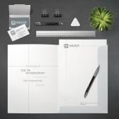 Gádor Stílusépítő arculattervezése, Névjegykártya, levélpapír, mappa
