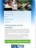 Salonpas (fajdalomcsokkentes.hu) weboldal tábla PC nézet