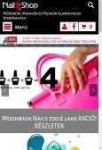 mukorombolt.hu weboldal mobil nézet