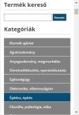 Széchenyi Egyetem Jegyzetbolt weboldal mobil nézet