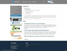 Universitas-Győr Nonprofit Kft. weboldala - HD felbontás
