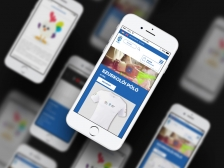 Győr Projekt webshop reszponzív mobil nézet