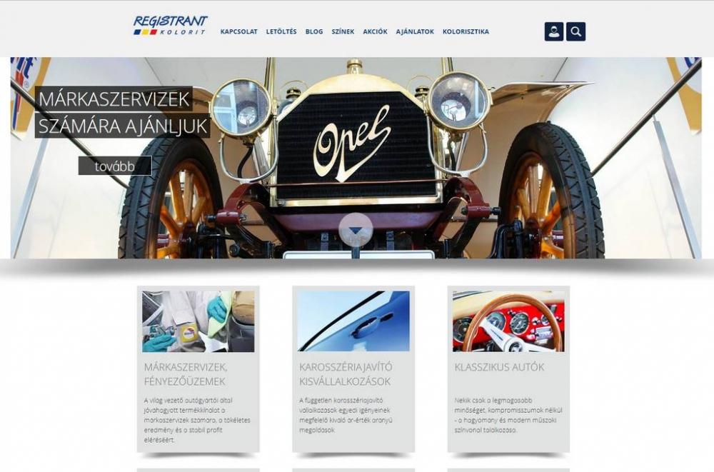 Registrant Kolorit, full reszponzív weboldal építés