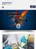 Registrant Kolorit, full reszponzív weboldal építés - tablet nézet - álló