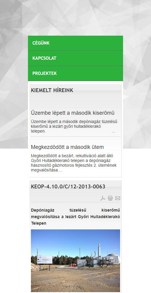 Arrabona Depo Kft. (http://www.arrabonadepo.hu) - mobil nézet