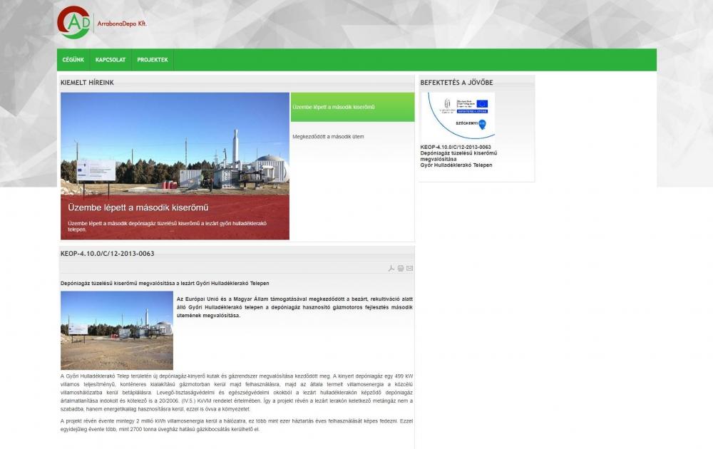 Arrabona Depo Kft. (http://www.arrabonadepo.hu) - monitor nézet