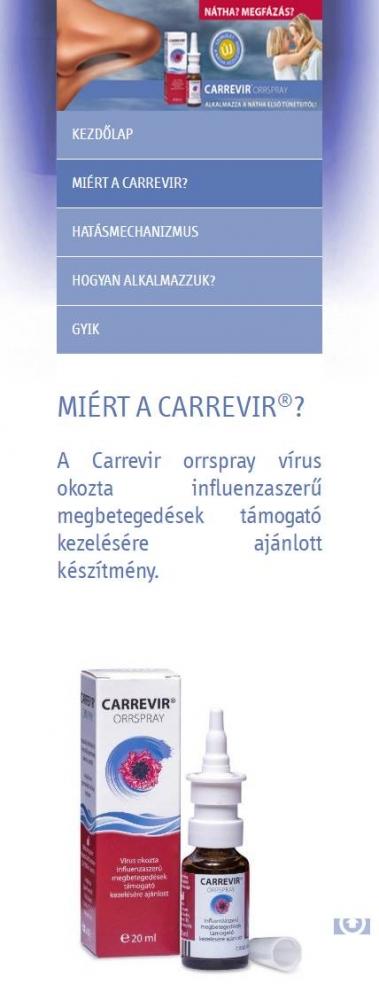 Carrevir (Sager Pharma) (http://carrevir.hu) - mobil nézet