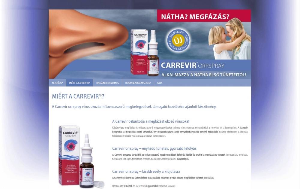 Carrevir (Sager Pharma) (http://carrevir.hu) - monitor nézet