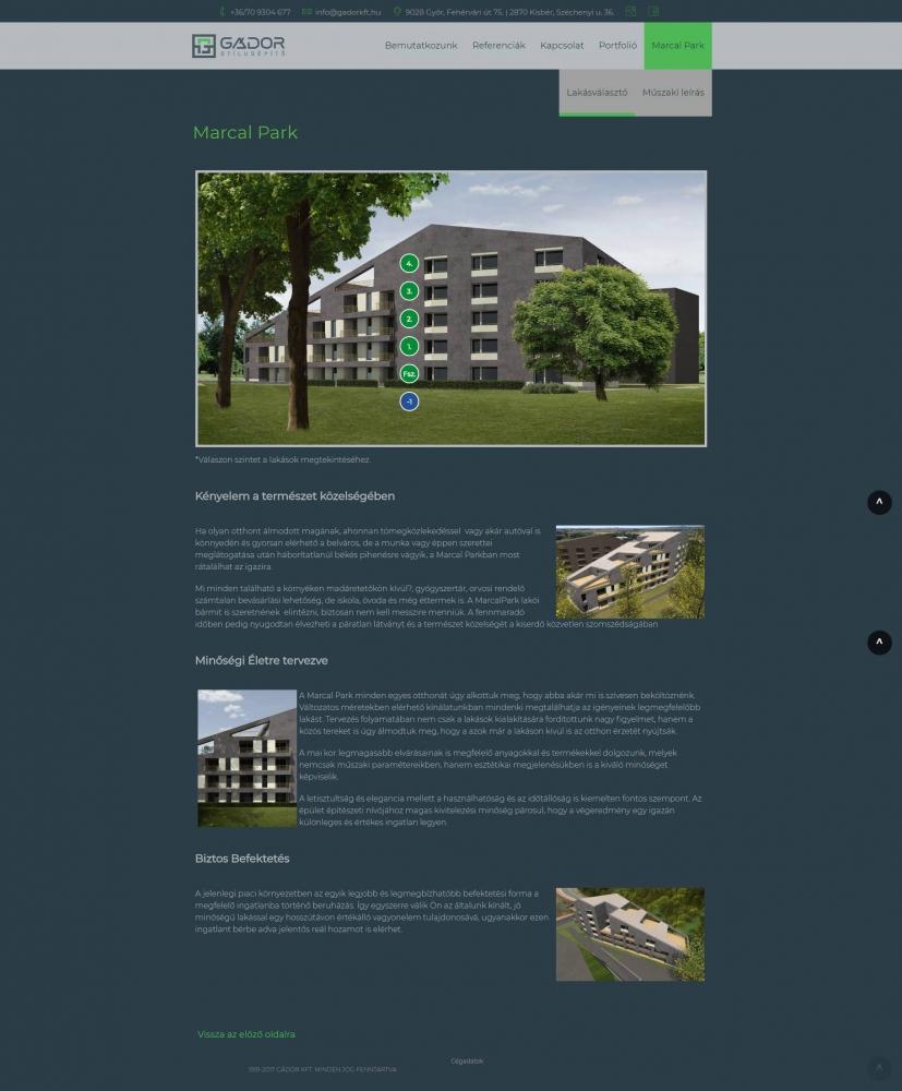 Gádor a Stílusépítő (gadorkft.hu) - lakásválasztó funkció