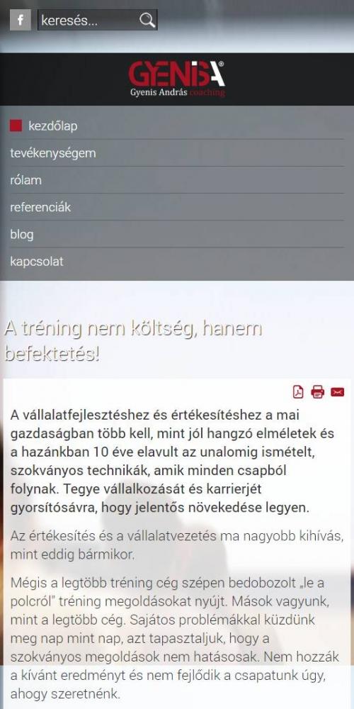 Gyenis András (http://gyenisandras.hu) - mobil nézet