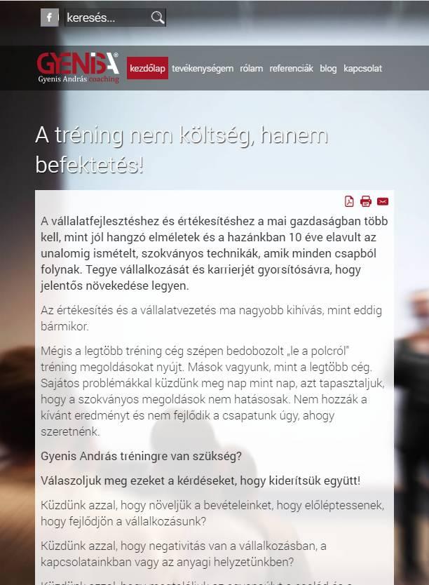 Gyenis András (http://gyenisandras.hu) - tablet nézet (álló)