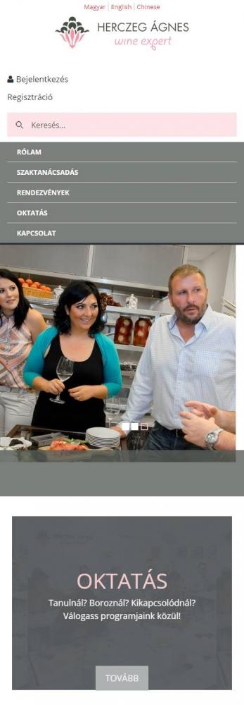 Herczeg Ágnes Wine School (http://herczegagnes.com) - mobil nézet