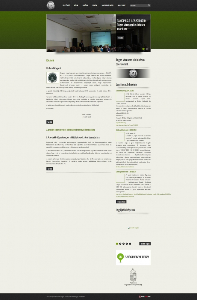 Hajléktalanokat Segítő Szolgálat (http://lem-gyor.hu/kezdolap) - teljes főoldal