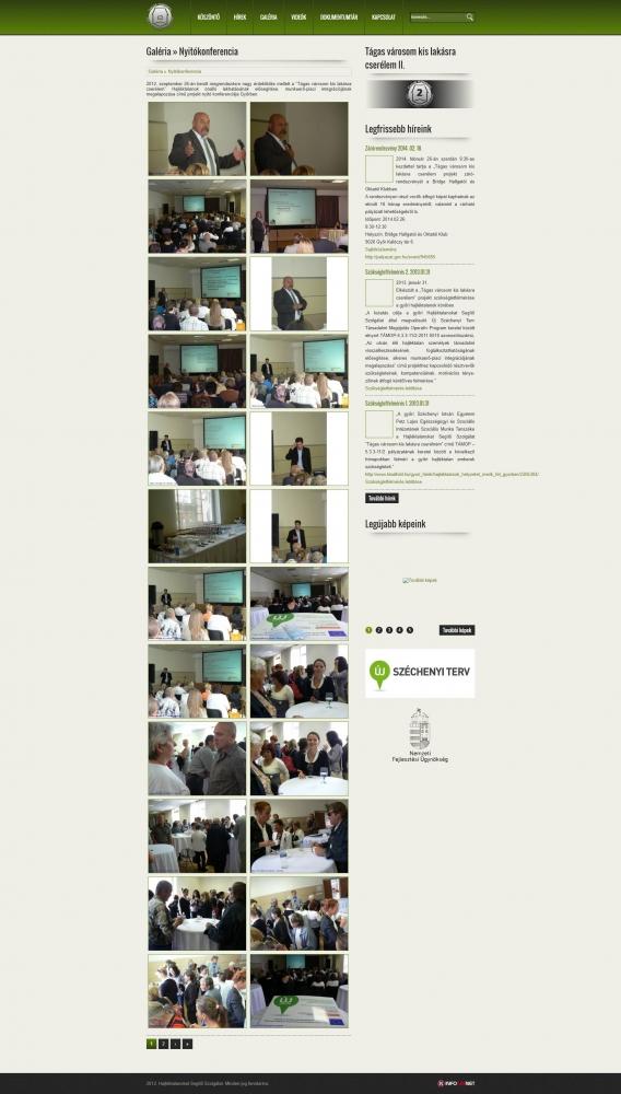 Hajléktalanokat Segítő Szolgálat (http://lem-gyor.hu/kezdolap) - galéria oldal