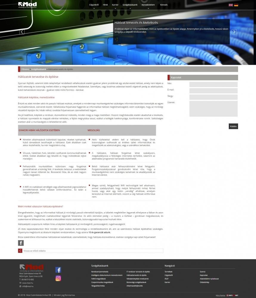 MOD Számítástechnikai és Kereskedelmi Kft. (http://mod.hu) - tartalmi elem