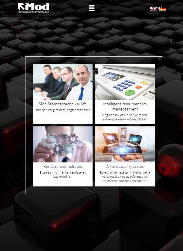 MOD Számítástechnikai és Kereskedelmi Kft. (http://mod.hu) - tablet nézet (álló)