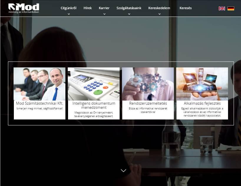 MOD Számítástechnikai és Kereskedelmi Kft. (http://mod.hu) - tablet nézet (fekvő)