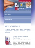 Carrevir (Sager Pharma) (http://carrevir.hu) - tablet nézet (álló)
