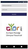 EYOF 2017 (http://gyor2017.hu) - alkalmazás fejlesztés - EYOF önkéntes applikáció bejelentkezés