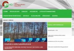 GYHG Győri Hulladékgazdálkodási Nonprofit Kft. (http://www.gyhg.hu) - tablet nézet (fekvő)
